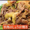 趣味どきあったかボティー!薬膳レシピ「羊肉のしょうが焼き」の作り方NHK Eテレ1月30日